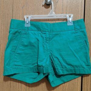 J. Crew Kelly green Chino shorts